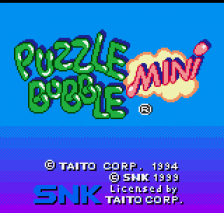 Puzzle Bobble Mini title screenshot