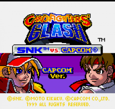 SNK vs. Capcom - Card Fighters' Clash - Capcom Version title screenshot