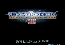 King of Fighters 2002 : Challenge to Ultimate Battle, The title screenshot