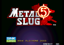Metal Slug 5 title screenshot