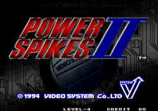Power Spikes II title screenshot