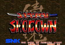Samurai Shodown title screenshot