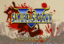 Samurai Shodown V title screenshot