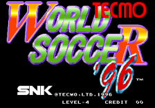 Tecmo World Soccer '96 title screenshot