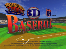 3D Baseball title screenshot