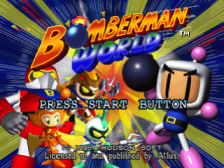 Bomberman World title screenshot