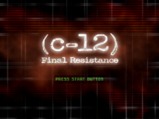 C-12 - Final Resistance title screenshot