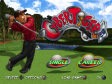 CyberTiger title screenshot