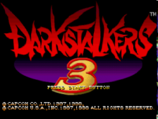 Darkstalkers 3 - Jedah's Damnation title screenshot
