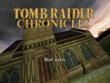 Tomb Raider Chronicles title screenshot