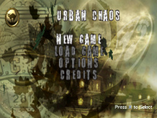Urban Chaos title screenshot