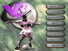 VR Soccer '96 title screenshot