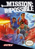 Mission Impossible Nintendo NES cover artwork
