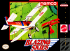 Blazing Skies Nintendo Super NES cover artwork