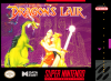 Dragon's Lair Nintendo Super NES cover artwork