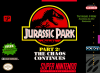 Jurassic Park Part 2 - The Chaos Continues  Nintendo Super NES cover artwork