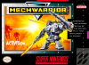 MechWarrior Nintendo Super NES cover artwork