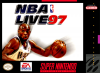 NBA Live' 97 Nintendo Super NES cover artwork