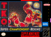 TKO Super Championship Boxing Nintendo Super NES cover artwork