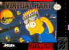 Virtual Bart Nintendo Super NES cover artwork