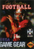 Joe Montana's Football Sega Game Gear cover artwork