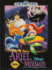 Ariel the Little Mermaid Sega Genesis cover artwork