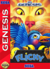 Flicky Sega Genesis cover artwork