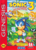 Sonic The Hedgehog 3 Sega Genesis cover artwork
