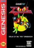 Zool - Ninja of the 'Nth' Dimension Sega Genesis cover artwork