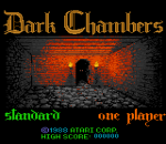 Dark Chambers title screenshot