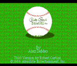Pete Rose Baseball title screenshot