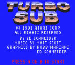 Turbo Sub title screenshot