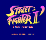 Street Fighter II': Hyper Fighting title screenshot