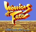 Warriors of Fate title screenshot