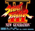 Street Fighter III title screenshot