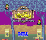 Alex Kidd : The Lost Stars title screenshot