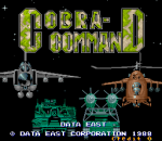 Cobra Command title screenshot