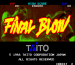 Final Blow title screenshot