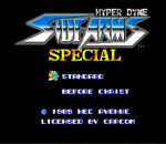 Hyper Dyne SideArms Special title screenshot
