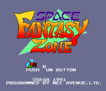 Space Fantasy Zone title screenshot