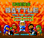 Bomberman - Users Battle title screenshot