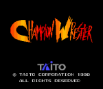 Champion Wrestler title screenshot