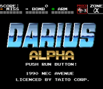 Darius Alpha title screenshot