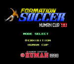 Formation Soccer - Human Cup '90 title screenshot