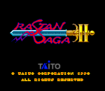 Rastan Saga II title screenshot