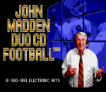 John Madden Duo CD Football title screenshot