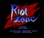 Riot Zone title screenshot