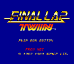 Final Lap Twin title screenshot