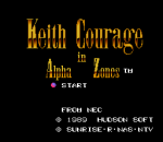 Keith Courage in Alpha Zones title screenshot