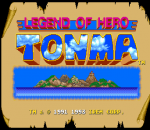 Legend of Hero Tonma title screenshot